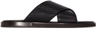 Ermenegildo Zegna Criss-Cross Slip-On Sandals