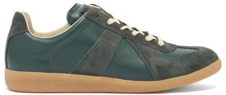 Maison Margiela Replica Suede-panel Leather Trainers - Green