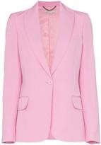 Stella McCartney single-breasted peak lapel wool blazer