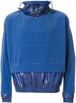 Cottweiler layered sweater anorak