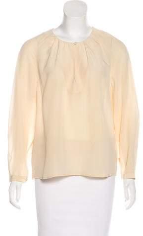 Closed Silk Long Sleeve Blouse