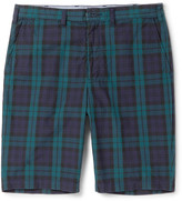 Beams Plus - Slim-fit Checked Cotton Shorts