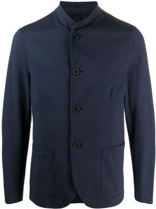 Harris Wharf London Stand-Up Collar Single-Breasted Blazer