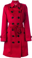 Burberry Sandringham double breasted trench coat - women - Viscose/Cashmere - 6