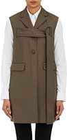 3.1 Phillip Lim WOMEN'S WOOL SLIM VEST-DARK GREEN SIZE 0