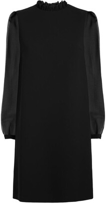 Claudie Pierlot Sheer-Sleeved Shift Dress