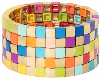 Roxanne Assoulin Golden Rainbow set of five bracelets