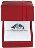 LeVian Diamond, Blue Aquamarine & 14k Gold Chocolatier Ring