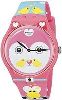Swatch Women's SUOZ190 Originals Analog Display Swiss Quartz Multi-Color Watch