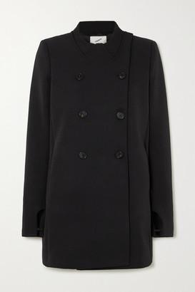 Coperni Double-breasted Grain De Poudre Coat - Black