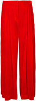 Raquel Allegra wide leg cropped pants - women - Silk/Rayon - 0