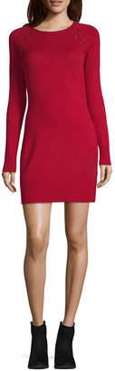 Byer California-Juniors Long Sleeve Sweater Dress