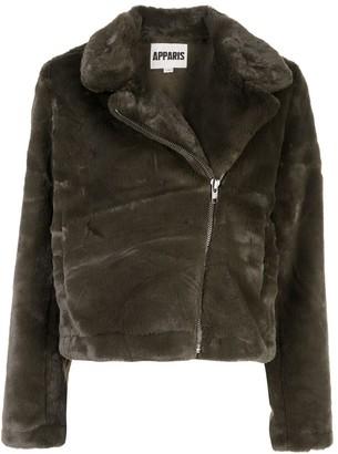 Apparis faux fur biker jacket