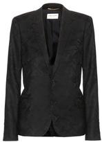 Saint Laurent Camouflage jacquard blazer