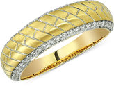 Esquire Men's Jewelry Diamond Herringbone Band (1/2 ct. t.w.) in 14k Gold, Only at Macy's