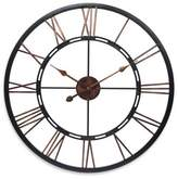 Infinity Instruments 28-Inch Roman Numeral Metal Fusion Wall Clock