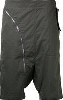 Rick Owens drop crotch zip shorts - men - Cotton - XS