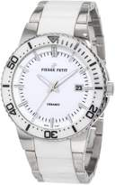 Pierre Petit Men's P-807B Serie Colmar Ceramic and Stainless-Steel Bracelet Watch