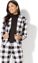 New York & Co. 7th Avenue Jacket - Two-Button - Modern - Gingham