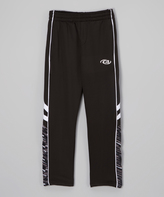 CB Sports White & Black Track Pants - Boys