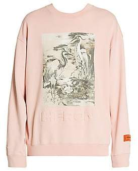 Heron Preston Men's Concrete Jungle Screen Print Sweashirt