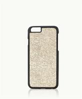 GiGi New York iPhone 6/6s Hard-Shell Case Beige Embossed Ring Lizard Leather