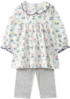 Petit Bateau Graphic dress and high rise pants