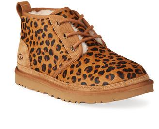 UGG Leopard-Print Fur Booties