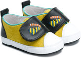 Fendi monster face slippers - kids - Calf Leather/Leather - 17