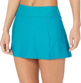 Maxine Of Hollywood Women's Plus Size Side Slit Swim Skirt Swimsuit