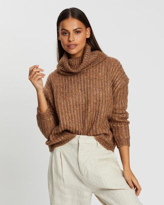 Only Chunky Roll Neck Pullover Knit