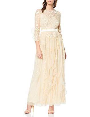 Frock and Frill Women's Genette Lace Long Sleeve Maxi Party Dress,(Size:UK )