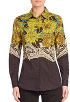 Etro Floral Stretch Cotton Shirt