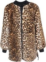 Ermanno Scervino Leopard Print Zipped Coat