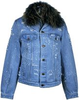 Forte Couture Ripped Denim Jacket
