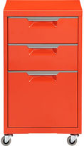 CB2 TPS bright orange file cabinet