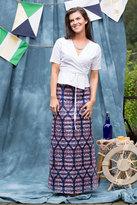 Shabby Apple Meko Maxi Skirt Blue