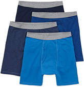 STAFFORD Stafford Blended Cotton 4 Pair Boxer Briefs-Big