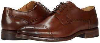 Johnston & Murphy Lewis Cap Toe (Tan Full Grain Leather) Men's Shoes