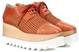 Stella McCartney Wicker Elyse Platform Derby Shoes