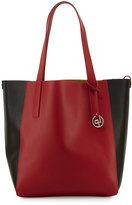 Linea Pelle North-South Colorblock Tote Bag, Red/Black