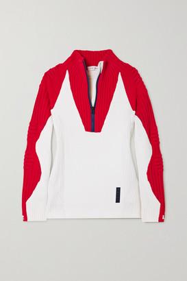 FALKE ERGONOMIC SPORT SYSTEM Ribbed Wool-blend Sweater - Off-white