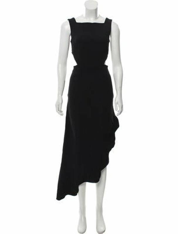 Thumbnail for your product : Osman Asymmetric Scallop Dress Black