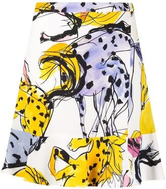 Stella McCartney Horse-Print Mini Skirt