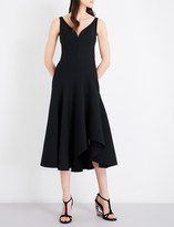 Alexander McQueen V-neck wool-blend dress