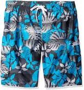 Kanu Surf Men's Big Paradise Extended Size Stripe Floral Swim Trunk