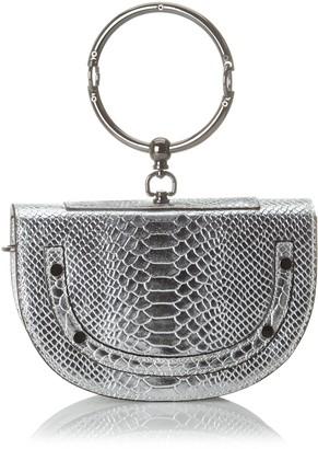 Chicca Borse Women's CBS178484-402 Shoulder Bag Silver Silver (argento argento)