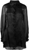 Alberta Ferretti sheer panel blouse - women - Silk - 40