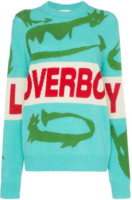 Charles Jeffrey Loverboy Loverboy crocodile intarsia knit jumper