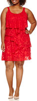 Robbie Bee Sleeveless Floral Sheath Dress-Plus